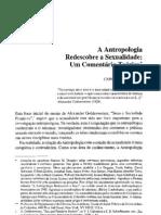 A Antropologia re a Sexualidade Um Comentario Teorico