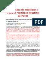 Informe Russián 2010.Muestra que En Compras de Medicinas a Cuba se Repitieron prácticas de PDVAL