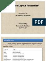 Common Layout Properties