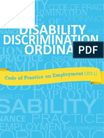 Disability Discrimination Ordinance - Code of Practice on Employment (Hong Kong 2011)