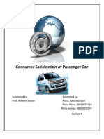 BRM Project- Customer Satisfaction for Passenger Car