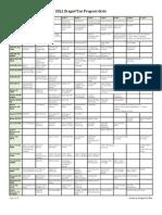 2011 DragonCon Pocket Program Grids Only Letter Size