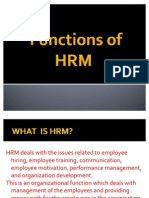 Functions of HRM
