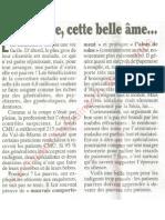 Le Canard enchainé - 2006.06.28 - De plus en plus de médecins rechignent à accepter les patients ayant la CMU, en clair les plus pauvres