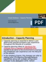 Oracle Database - Capacity Planning