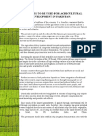 19702404 Strategies to Be Used for Agricultural Development in Pakistan