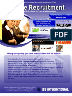 Online Recruitment Europe 2011 Agenda