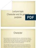 Character - Purpose of Character in General