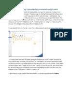 Microsoft Word Exercises