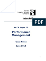 ACCA F5 Notes