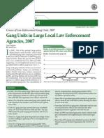 Law Enforcement Gang Unit Census - DOJ 2007