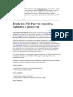As funções típicas do Poder Legislativo são legislar e fiscalizar