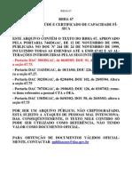 Rbha 067 Requisitos Exame Medico CCF