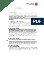 2 Mark for Strategic Management