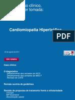 Reunião 22 agosto de 2011_Cardiomiopatia Hipertrofica Septal Assimétrica