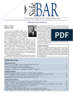 SideBAR • Published by the Federal Litigation Section of the Federal Bar Association • Summer 2011