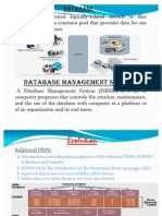 Evolution of DBMS.