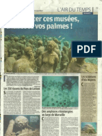 Les musées sous-marins - Le Parisien - 27 août 2011