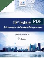 TiE Institute Information Brochure
