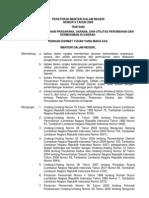 Permendagri No 9 Tahun 2009