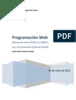 Diferencias Entre HTML y HTML 5