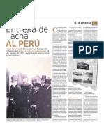 Entrega de Tacna al Perú