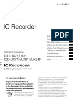 Sony ICD-UX71-81 Operating Manual