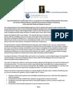 Colorado BioScience Association Assembles CEO Rountable for Senator Michael Bennet and FDA Commissioner Margaret Hamburg