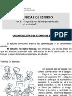 TecnicasDeEstudio(OrganizacionDelTiempoDeEstudio)