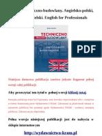 Słownik techniczno-budowlany. Angielsko-polski, polsko-angielski. English for Professionals