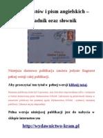 Wzory listów i pism angielskich - poradnik oraz słownik