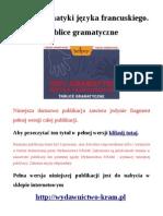 100% gramatyki języka francuskiego. Tablice gramatyczne