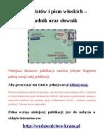 Wzory listów i pism włoskich - poradnik oraz słownik