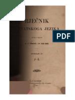F. Ivekovic - Ivan Broz - Rjecnik Hrvatskoga Jezika - Svezak II