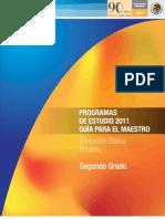 Programa 2011. Segundo grado.