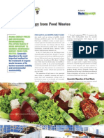Renewable Energy from Food Wastes