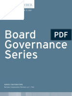 Board Governance Series Volume 17