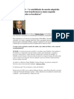 Entrevista Itamar Franco Sobre Plano Real