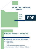 WIC UPC Database