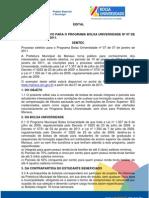 EDITAL Programa Bolsa Universidade 2011 1 PORTAL