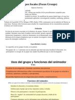 Grupos Focales (Focus Groups)
