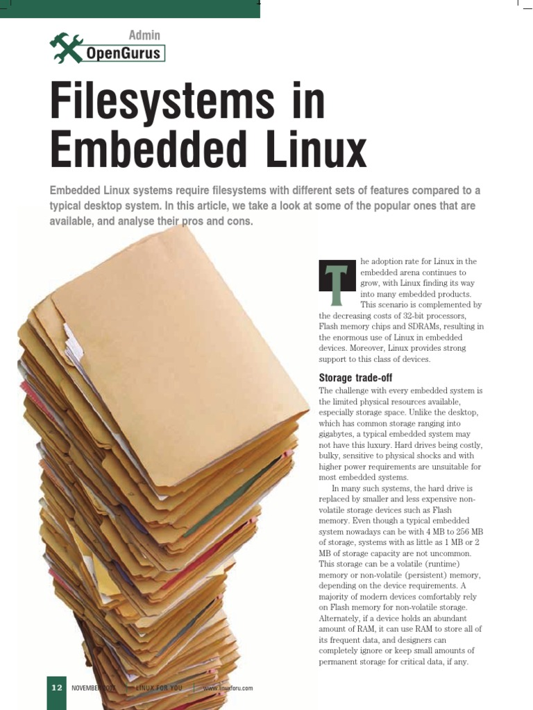 File System Embedded Linux | File System | Flash Memory