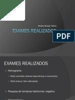 EXAMES REALIZADOS
