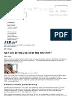 Überwachung - RFID - Geniale Erfindung oder Big Brother
