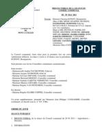 Conseil Communal de Pont-à-Celles du 30 mai 2011