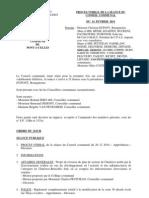 Conseil Communal de Pont-à-Celles du 14 février 2011