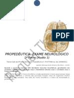 PROPEDÊUTICA EXAME NEUROLÓGICO 1 PARTE AUDIO1