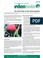 Growing Healthy Fruit Trees in the Home Garden