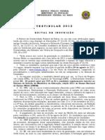 Vest.12, Edital Inscrição