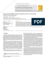 Structural Vulnerability of Energy Distribution Systems Incorporating Infra Structural Dependencies